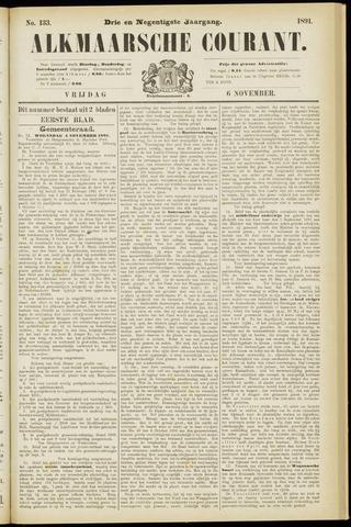 Alkmaarsche Courant 1891-11-06