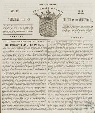 Weekblad van Den Helder en het Nieuwediep 1848-03-06