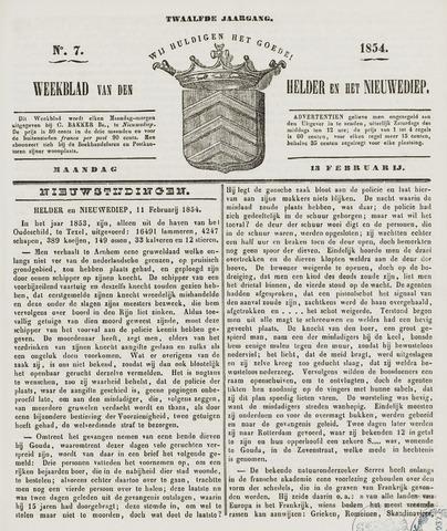 Weekblad van Den Helder en het Nieuwediep 1854-02-13