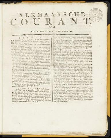 Alkmaarsche Courant 1814-11-14