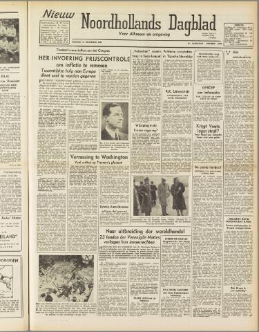 Nieuw Noordhollandsch Dagblad : voor Alkmaar en omgeving 1947-11-18