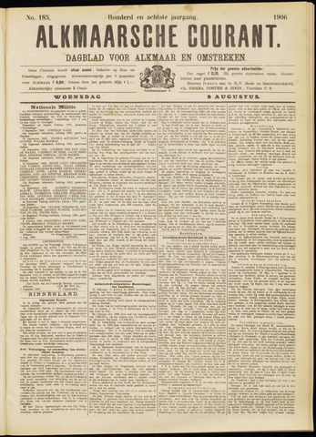 Alkmaarsche Courant 1906-08-08