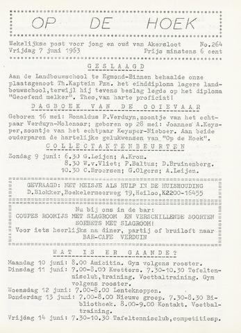 Op De Hoek, weekblad voor Akersloot 1963-06-07