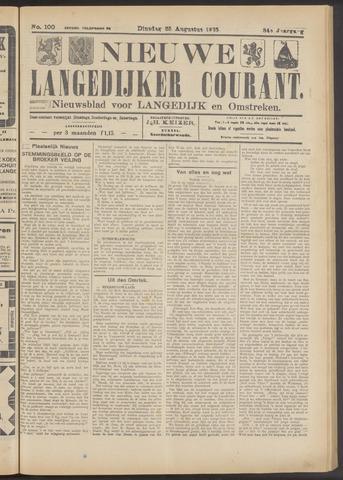 Nieuwe Langedijker Courant 1925-08-25