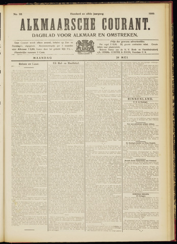 Alkmaarsche Courant 1909-05-24
