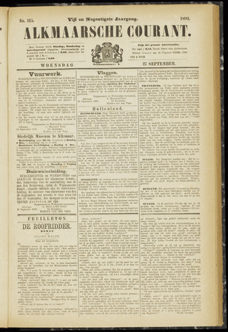 Alkmaarsche Courant 1893-09-27