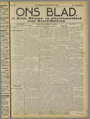 Ons Blad : katholiek nieuwsblad voor N-H 1913-02-18