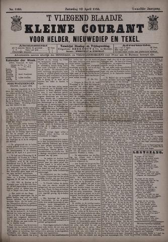 Vliegend blaadje : nieuws- en advertentiebode voor Den Helder 1884-04-12