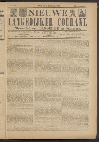 Nieuwe Langedijker Courant 1922-02-07