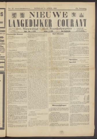 Nieuwe Langedijker Courant 1933-04-11