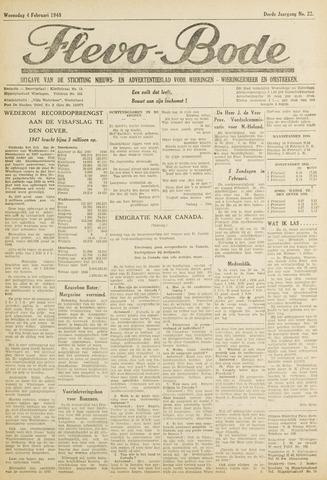 Flevo-bode: nieuwsblad voor Wieringen-Wieringermeer 1948-02-04