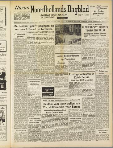 Nieuw Noordhollandsch Dagblad : voor Alkmaar en omgeving 1952-08-22