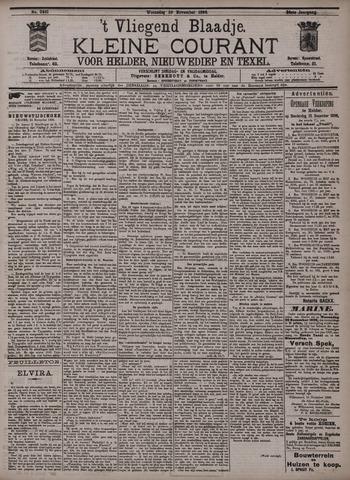 Vliegend blaadje : nieuws- en advertentiebode voor Den Helder 1896-11-25