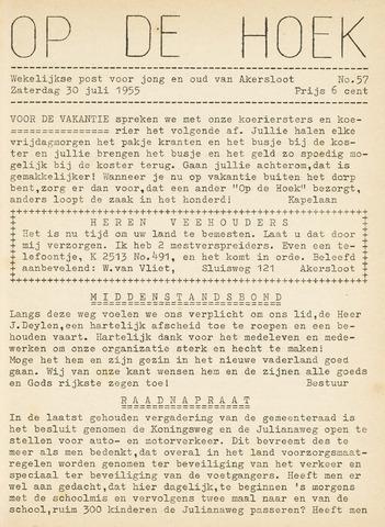 Op De Hoek, weekblad voor Akersloot 1955-07-30