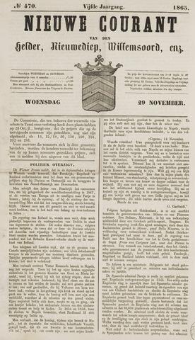 Nieuwe Courant van Den Helder 1865-11-29