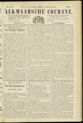 Alkmaarsche Courant 1889-09-22