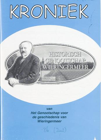 Kroniek Historisch Genootschap Wieringermeer 2003-12-01
