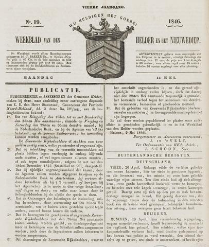 Weekblad van Den Helder en het Nieuwediep 1846-05-11