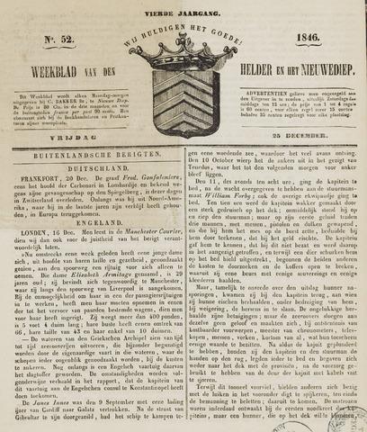 Weekblad van Den Helder en het Nieuwediep 1846-12-25