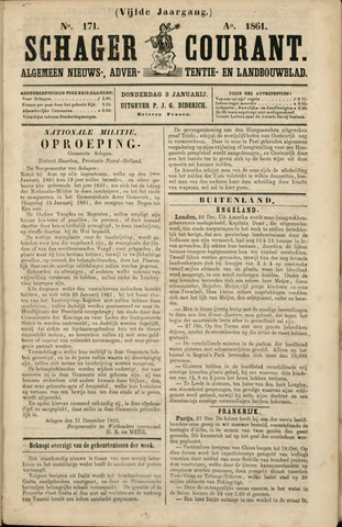 Schager Courant 1861