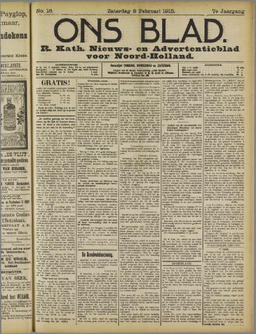 Ons Blad : katholiek nieuwsblad voor N-H 1913-02-08
