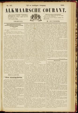 Alkmaarsche Courant 1883-10-26