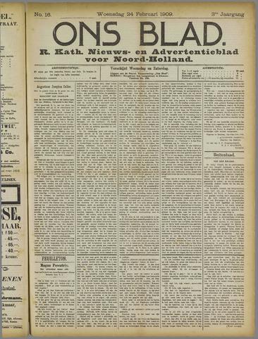 Ons Blad : katholiek nieuwsblad voor N-H 1909-02-24