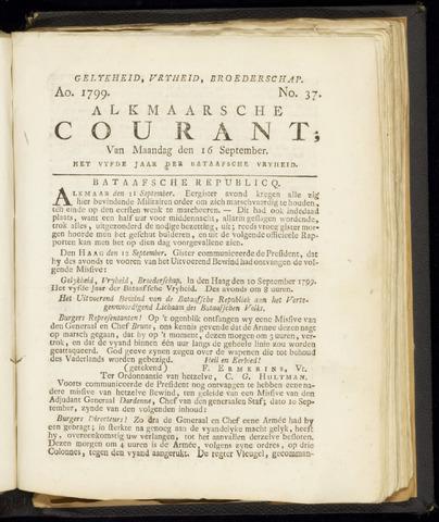 Alkmaarsche Courant 1799-09-16