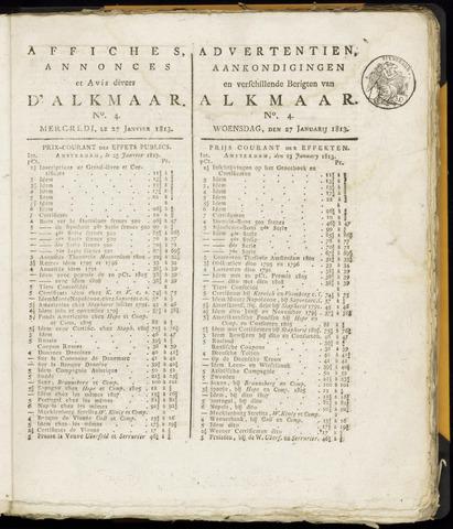 Alkmaarsche Courant 1813-01-27