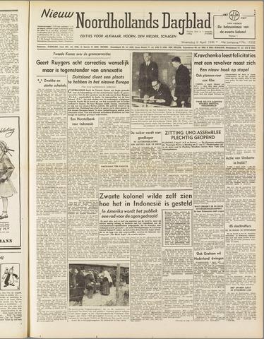 Nieuw Noordhollandsch Dagblad : voor Alkmaar en omgeving 1949-04-06