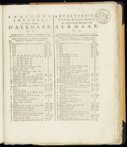 Alkmaarsche Courant 1813-09-29