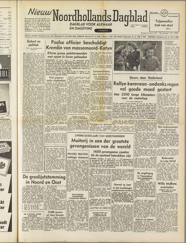 Nieuw Noordhollandsch Dagblad : voor Alkmaar en omgeving 1952-04-22