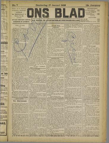 Ons Blad : katholiek nieuwsblad voor N-H 1918-01-17