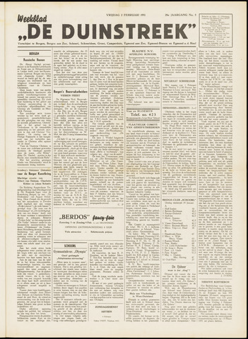 De Duinstreek 1951-02-02
