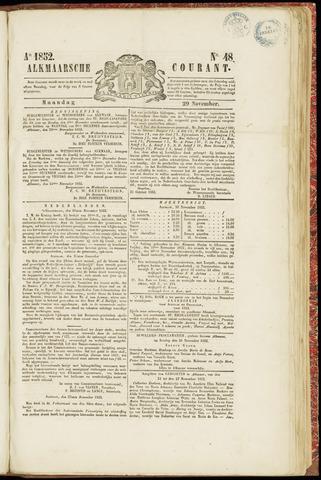 Alkmaarsche Courant 1852-11-29