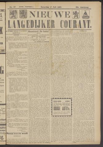 Nieuwe Langedijker Courant 1920-07-17