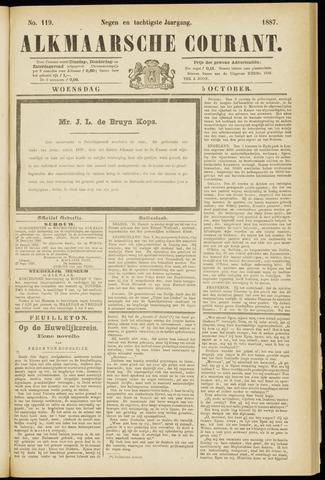 Alkmaarsche Courant 1887-10-05