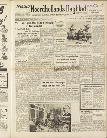 Nieuw Noordhollandsch Dagblad : voor Alkmaar en omgeving 1949-06-04
