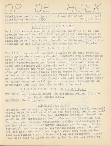 Op De Hoek, weekblad voor Akersloot 1955-10-29