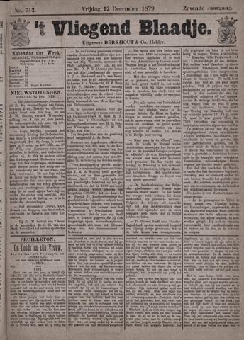 Vliegend blaadje : nieuws- en advertentiebode voor Den Helder 1879-12-12