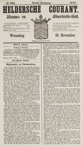 Heldersche Courant 1870-11-23
