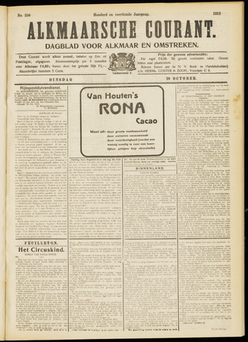Alkmaarsche Courant 1912-10-29