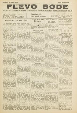 Flevo-bode: nieuwsblad voor Wieringen-Wieringermeer 1946-03-13