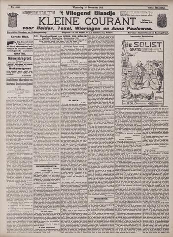 Vliegend blaadje : nieuws- en advertentiebode voor Den Helder 1912-12-18