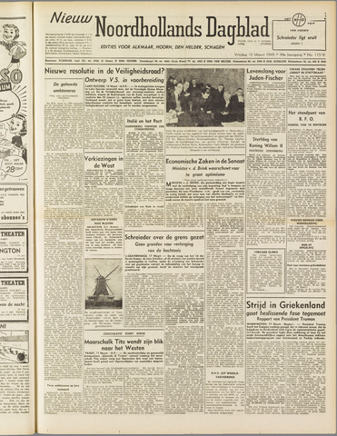 Nieuw Noordhollandsch Dagblad : voor Alkmaar en omgeving 1949-03-18
