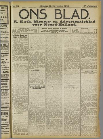 Ons Blad : katholiek nieuwsblad voor N-H 1912-11-12