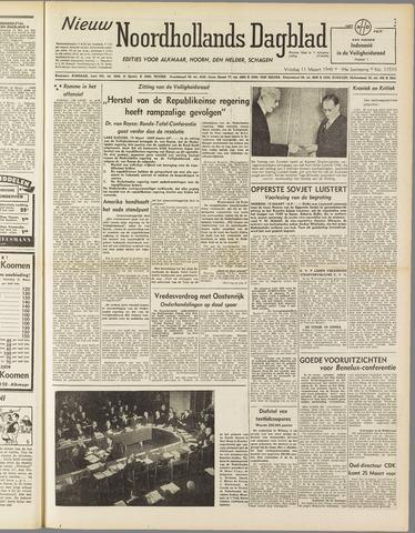 Nieuw Noordhollandsch Dagblad : voor Alkmaar en omgeving 1949-03-11