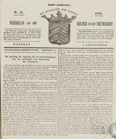 Weekblad van Den Helder en het Nieuwediep 1848-09-04