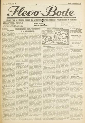 Flevo-bode: nieuwsblad voor Wieringen-Wieringermeer 1947-03-29