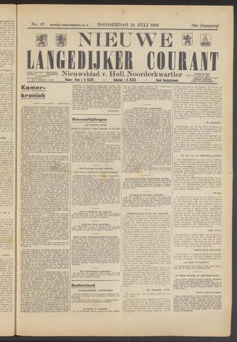 Nieuwe Langedijker Courant 1930-07-24